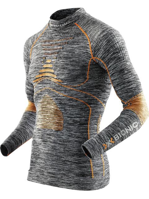X-Bionic Accumulator Evo Melange Shirt L/S Turtle Neck Men Grey Melange/Orange